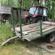 Remorque bois ancienne