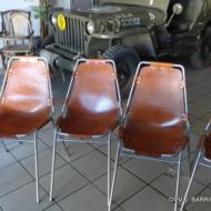 10 Chaises Les Arcs vintage par Charlotte Perriand (2 set de 5 chaises)